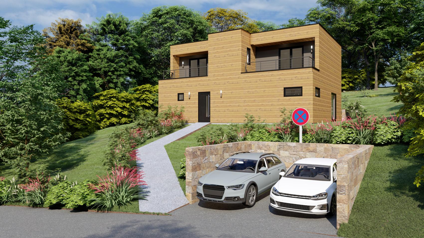 projet maison bois Marne